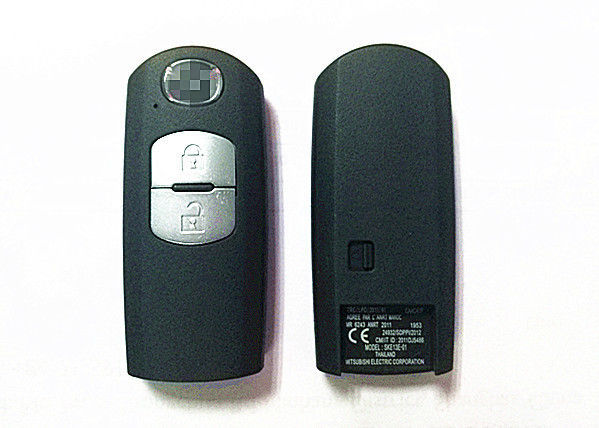 SKE13E-01 433 MHZ Mazda Remote Key , Black Plastic 2 Button Key Fob With Battery