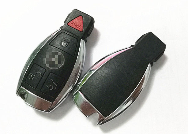 Plastic Material Benz Key Fob  4 Button Keyless Entry Fob FCC IYZDC12K  Not Included Blade