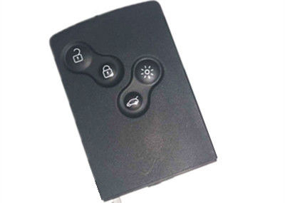 Black Renault Koleos Keyless Entry Key Fob 4 Button Transponder Chip PCF7941 434 Mhz